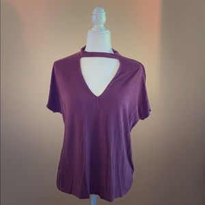 Just Fab Timing Keyhole Top